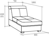 Розали кровать 980*2040*900 - фото 5366