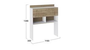 Кровать «Франческа» с мягким изголовьем и подъемным механизмом (Дуб Седан/Замша)